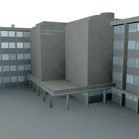 3d model office polytechnic building