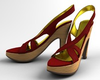 3ds woman shoe