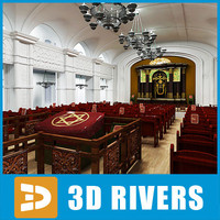 Synagogue interior by 3DRivers