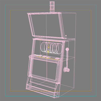 3d model slot machine - Slot machine_fire... by gjwegner