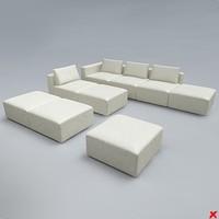 3d model sofa modular