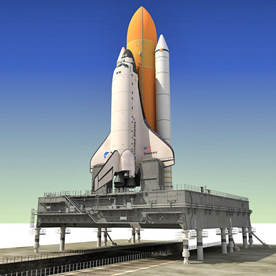 3d nasa space shuttle mlp - NASA Space Shuttle with MLP... by Gandoza