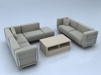 3d ikea modular sofa model