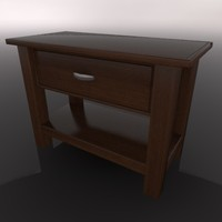 night table 3d c4d