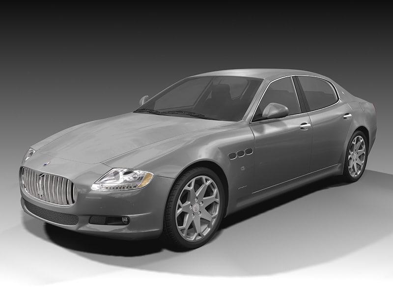 Maserati quattroporte 3d model for Porte 3ds max