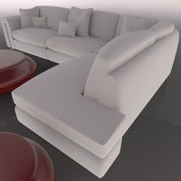 cinema4d living room set