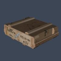 7 62x54r ammo box 3d model