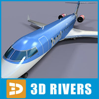 3dsmax bombardier challenger 850