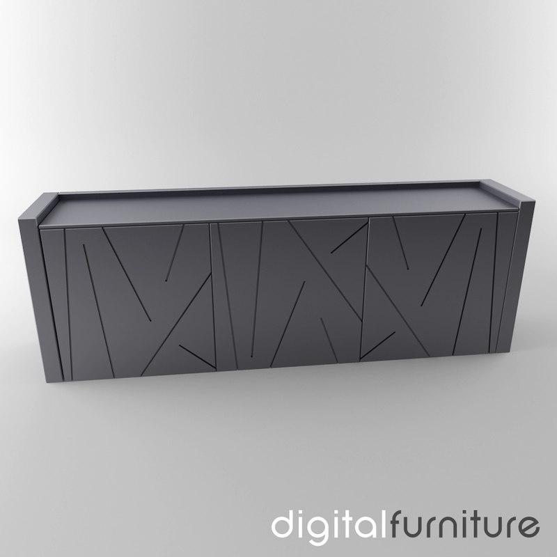 3d sideboard digital model -> Sideboard Tv Möbel