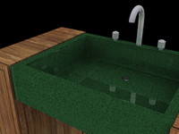posh bathroom sinks 3d max