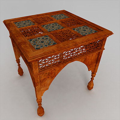 3d model arabic coffee table With arabic coffee table