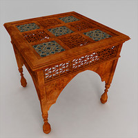 3d model arabic coffee table
