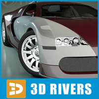 bugatti veyron luxury car 3d 3ds