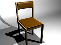 3d chaise model