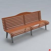 3d model street bench