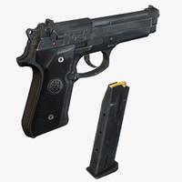 beretta 92 m9 handgun 3ds