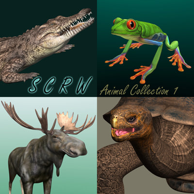 SCRW  3D Animal Collection 1