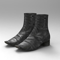 3ds max shoes female boots2