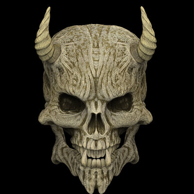 Skull lesser demon 3d model - Devil skull wallpaper ...