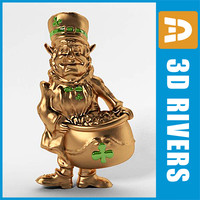Golden leprechaun by 3DRivers
