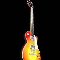3d les paul guitar model