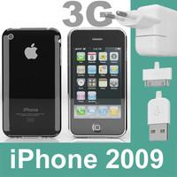3g iphone 2009 3d model