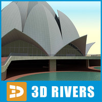 Lotus Temple by 3DRivers