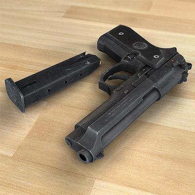 Beretta 92 m9 handgun 3ds m9 beretta 92 fs by alan smithee