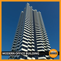 modern office building 06 obj