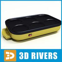 pancake maker 3d model