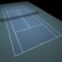 Tennis Hard Court Blue