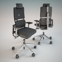3d steelcase office chair model