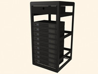 qsc power rack 9 3d model