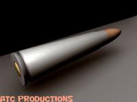 bullet rifle 3d model
