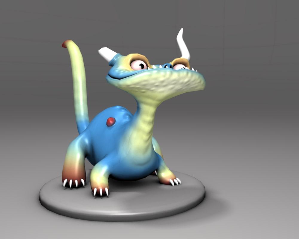 Blender Character Modeling 7 Of 10 : Free dragon blender rigged d model