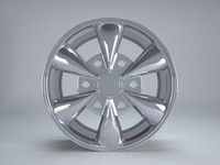 aftermarket wheel rim 3d obj