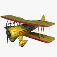 3d model waco ymf5 biplane