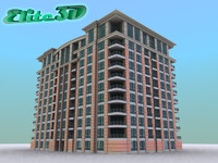 apartment hotel condominium 3d 3ds