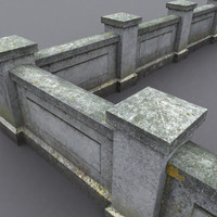 old fashioned wall 3d max