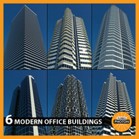 modern office buildings vol 3 max
