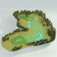 Golf-Course_Hole01_3DModel