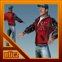 stylized male athletic max free