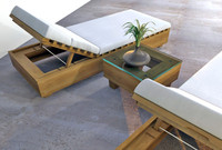 3d outdoor lounge chairs set