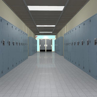 3d model of school hallway