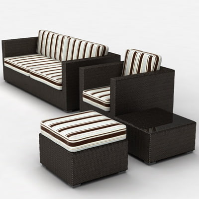 3d model of luxury outdoor furniture garden. Black Bedroom Furniture Sets. Home Design Ideas