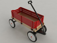 3d model toy wagon