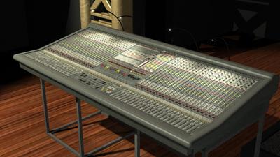 3d model midas xl 250 mixing console. Black Bedroom Furniture Sets. Home Design Ideas