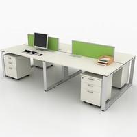 3d workstation office model