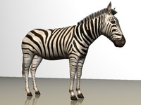 zebra animal 3d 3ds