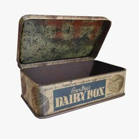 old dairy box 3d max
